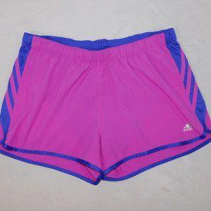 Adidas Womens L Purple Climalite  Running shorts